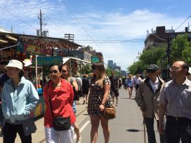 Taste of Little Italy pedestrian walkway: the whole street!