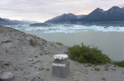 """""""Room with a view"""" of Lowell Glacier"""