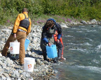 Taking on fresh water