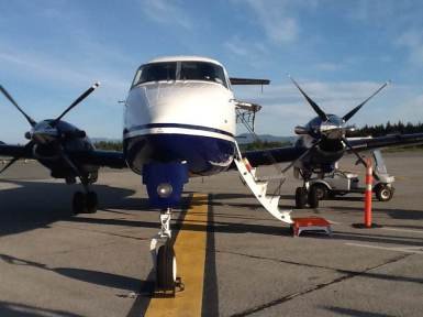 Pacific Coastal aircraft from Vancouver to Port Hardy
