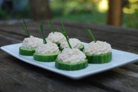 Cucumber and crab