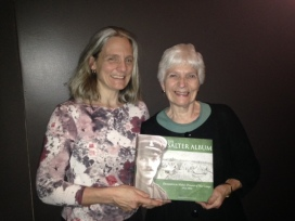 Granddaughter and daughter of the author: Christine and Marylyn Peringer with The Salter Album