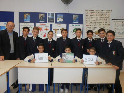 St. Margaret College students thank those who contributed to The Salter Album