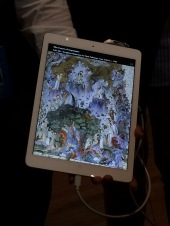 "The ""Mona Lisa of Iran"" - on location, but displayed on iPad, at present"