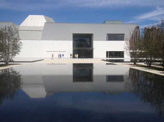 The entry to the Museum from one of many reflecting ponds