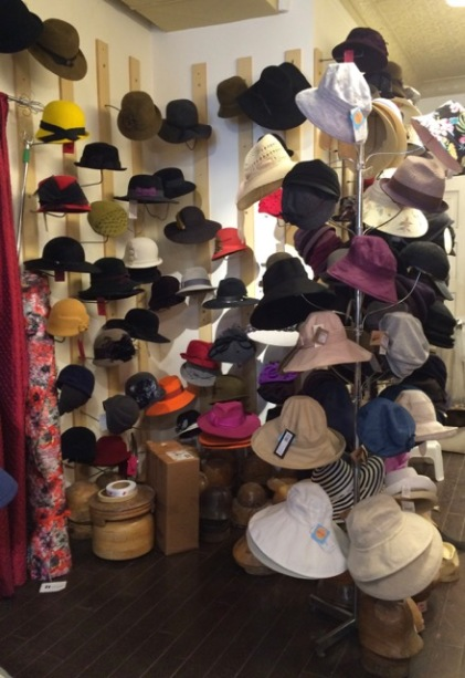 Hats of all shapes and colours