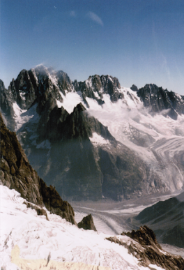 Chamonix in the distance