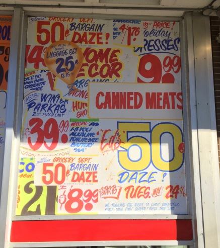 More of Honest Ed's Historic Signs on TTC Windows