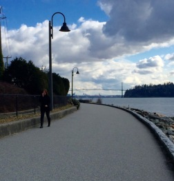 Looking east to the Lions Gate Bridge