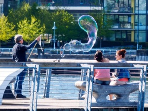 The False Creek Bubble (photo by Bruce Hawick)