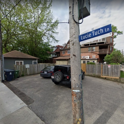 Lucie Tuch Lane, thanks to Google Maps street view